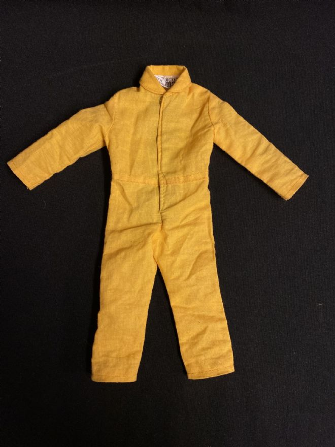 VINTAGE ACTION MAN  - HIGH RESCUE YELLOW JUMPSUIT